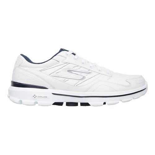 Mens Skechers GO Walk 3 - Compete LT Walking Shoe - White/Navy 12