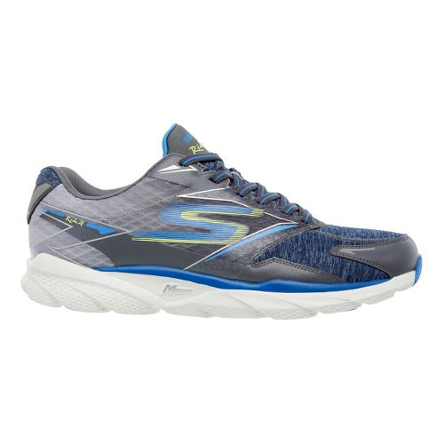 Mens Skechers GO Run Ride 4 - Excess Running Shoe - Charcoal/Blue 14