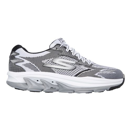 Mens Skechers GO Run Ultra R - Road Running Shoe - White/Black 11