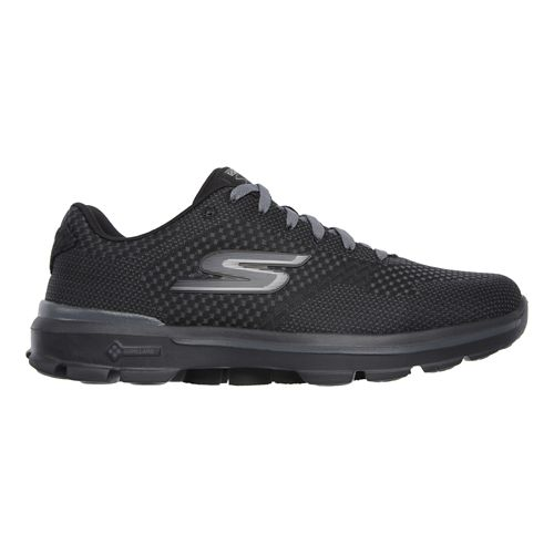 Mens Skechers GO Walk 3 - Solar Walking Shoe - Black/Black 12.5