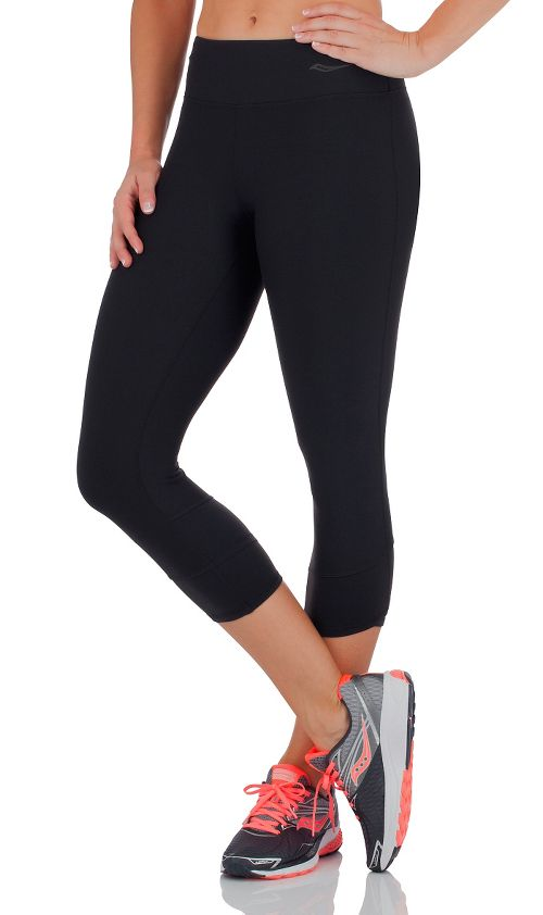 Womens Saucony Ignite Capris Tights - Black S