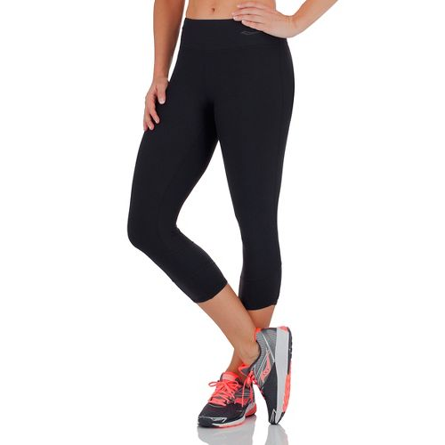 Womens Saucony Ignite Capris Tights - Black L