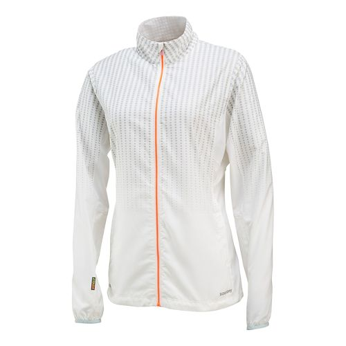 Womens Saucony Sonic Reflex Warm Up Unhooded Jackets - White L