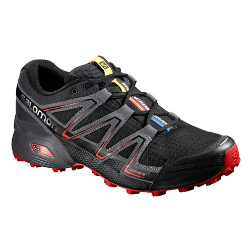 Mens Salomon Speedcross Vario Trail Running Shoe - Black/Grey 11