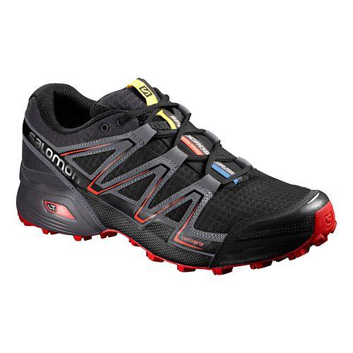 Mens Salomon Speedcross Vario Trail Running Shoe - Black/Grey 12