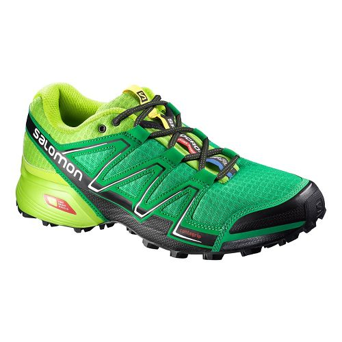 Mens Salomon Speedcross Vario Trail Running Shoe - Green/Black 8.5