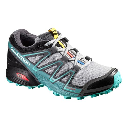 Womens Salomon Speedcross Vario Trail Running Shoe - Black/Bubble Blue 10.5