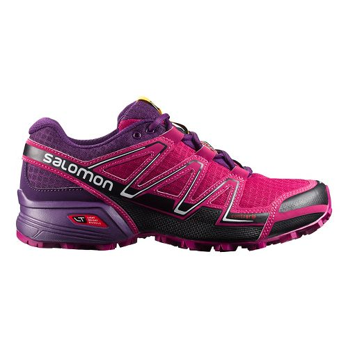 Womens Salomon Speedcross Vario Trail Running Shoe - Black/Purple 10.5