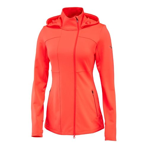 Womens Saucony Omni Full Zip Hoodie & Sweatshirts Technical Tops - Vizipro Electric XS