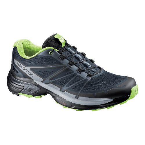 Mens Salomon Wings Pro 2 Trail Running Shoe - Slate Blue 10.5