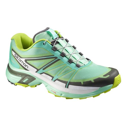 Womens Salomon Wings Pro 2 Trail Running Shoe - Light Green 10.5
