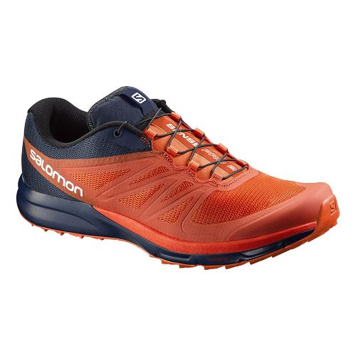 Mens Salomon Sense Pro 2 Trail Running Shoe - Orange/Black 8