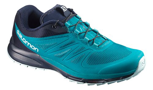 Womens Salomon Sense Pro 2 Trail Running Shoe - Enamel Blue/Navy 5