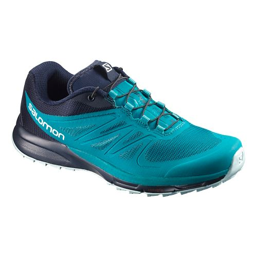 Womens Salomon Sense Pro 2 Trail Running Shoe - Enamel Blue/Navy 5