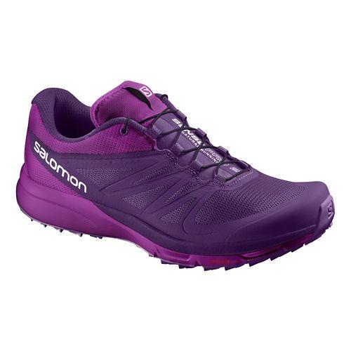 Womens Salomon Sense Pro 2 Trail Running Shoe - Purple 6.5