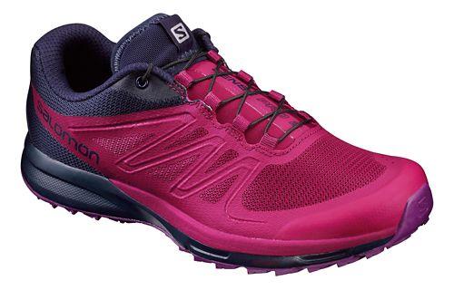 Womens Salomon Sense Pro 2 Trail Running Shoe - Sangria/Purple 9.5
