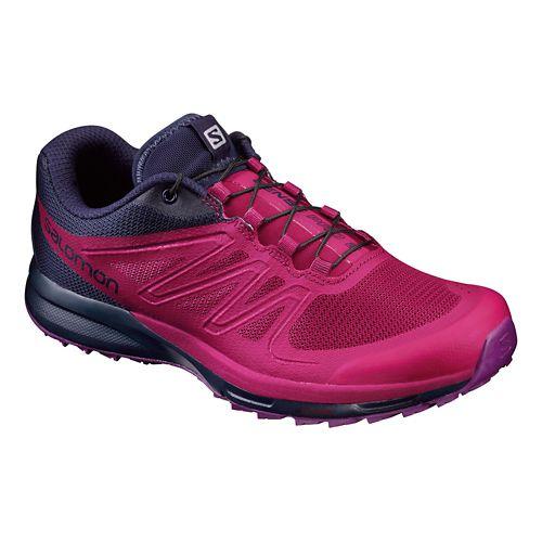 Womens Salomon Sense Pro 2 Trail Running Shoe - Sangria/Purple 8.5
