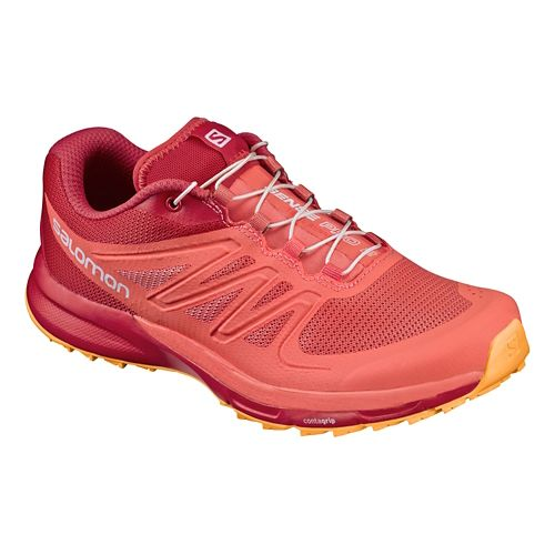 Womens Salomon Sense Pro 2 Trail Running Shoe - Coral/Red 7