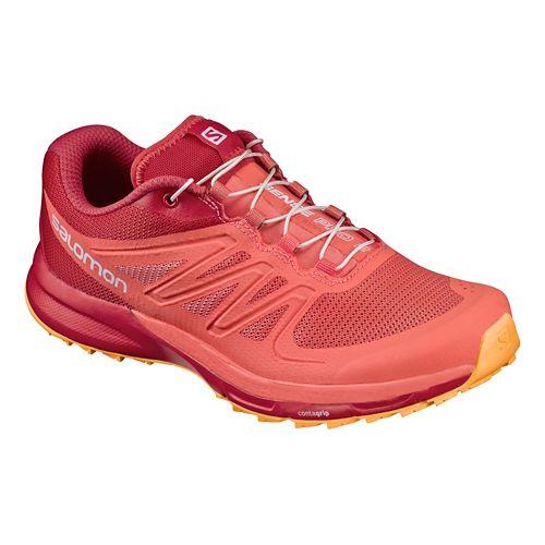 Womens Salomon Sense Pro 2 Trail Running Shoe - Coral/Red 9.5