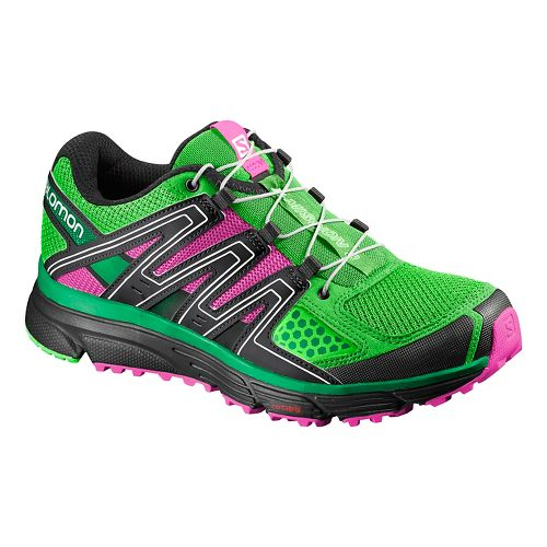 Womens Salomon X-Mission 3 Trail Running Shoe - Peppermint/Green 10.5