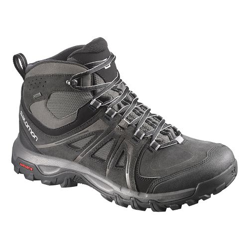 Mens Salomon Evasion Mid GTX Hiking Shoe - Black 10.5