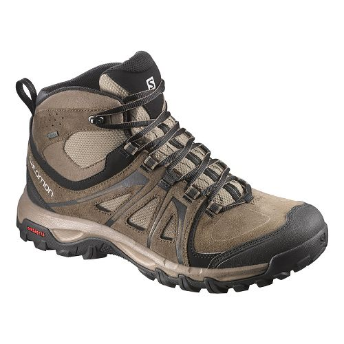 Mens Salomon Evasion Mid GTX Hiking Shoe - Absolute Brown-X 8