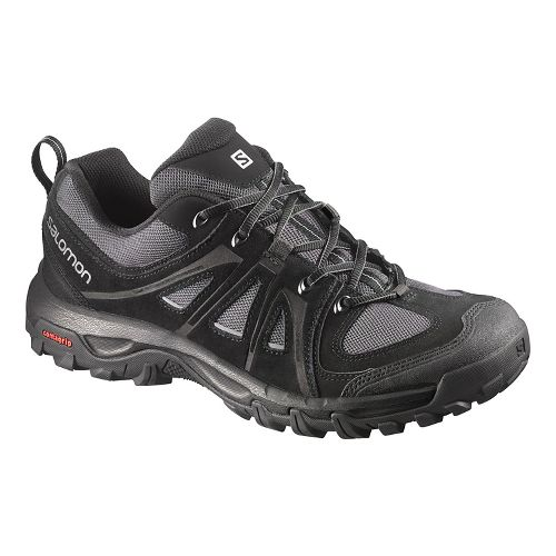 Mens Salomon Evasion Aero Hiking Shoe - Black/Pewter 11.5