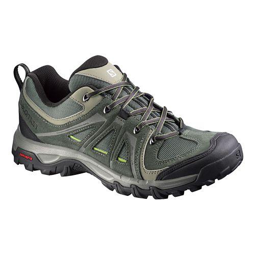 Mens Salomon Evasion Aero Hiking Shoe - Green/Grey 9.5