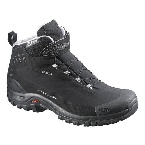 Womens Salomon Deemax 3 TS WP Trail Running Shoe - Black 9.5