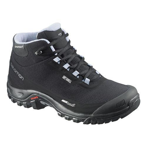 Womens Salomon Shelter CS WP Trail Running Shoe - Black 7