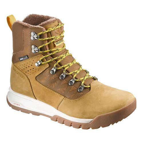 Mens Salomon Utility Pro TS CSWP Trail Running Shoe - Camel Gold LTR 11