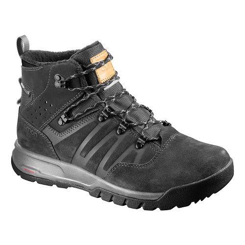Mens Salomon Utility TS CSWP Hiking Shoe - Asphalt/Black/Pewter 13