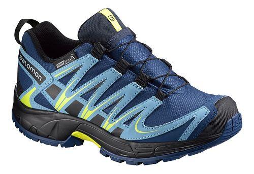 Salomon XA Pro 3D CSWP K Trail Running Shoe - Midnight Blue/Yellow 10C