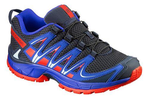 Salomon XA Pro 3D J Trail Running Shoe - Deep Blue/Orange 2Y