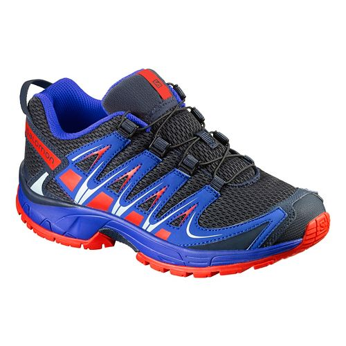 Kids Salomon XA Pro 3D J Trail Running Shoe - Deep Blue/Orange 2Y