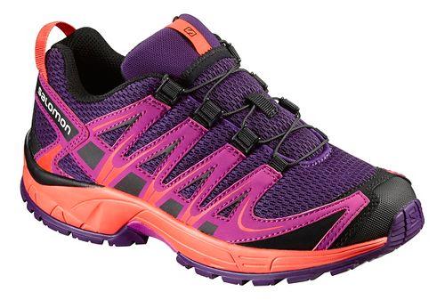 Salomon XA Pro 3D J Trail Running Shoe - Cosmic Purple/Coral 5Y