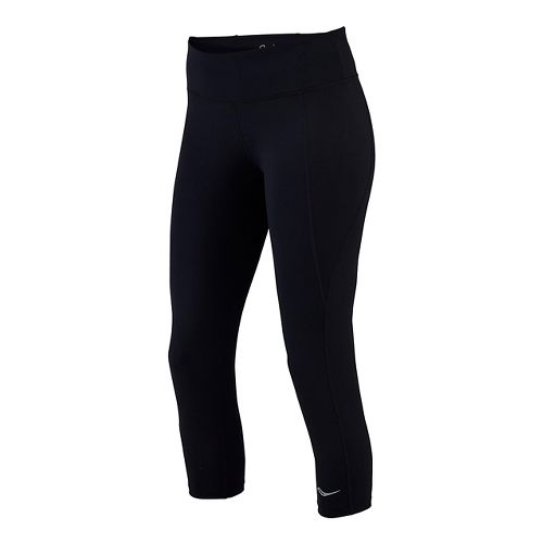 Womens Saucony Scoot Capris Tights - Black L