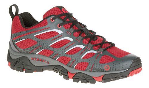 Mens Merrell Moab Edge Trail Running Shoe - Deep Red 10