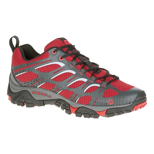 Mens Merrell Moab Edge Trail Running Shoe - Deep Red 7.5