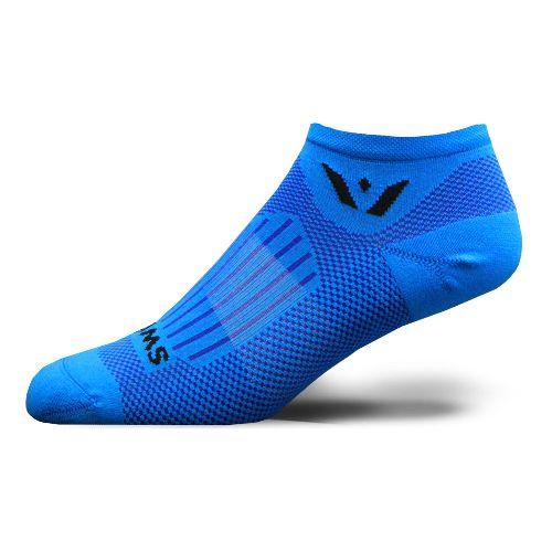Swiftwick Zero Aspire No Show Socks - Fusion Blue L