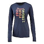Womens Saucony FYS Graphic Long Sleeve Technical Tops