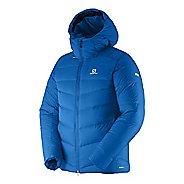 Mens Salomon S-Lab X ALP Baffled Down Warm Up Hooded Jackets