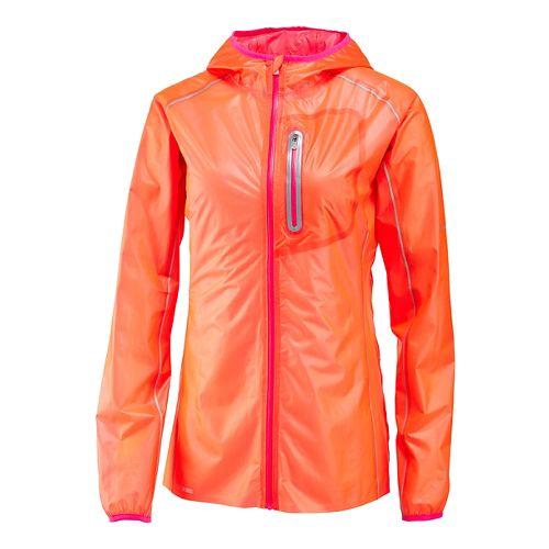 Womens Saucony Exo Warm Up Unhooded Jackets - Vizipro Orange L