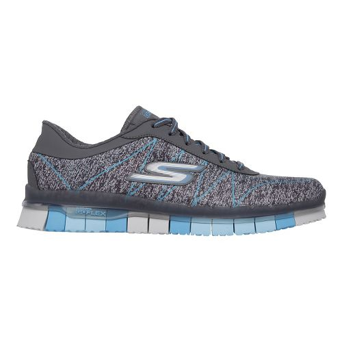 Womens Skechers GO Flex - Ability Walking Shoe - Charcoal/Turquoise 11