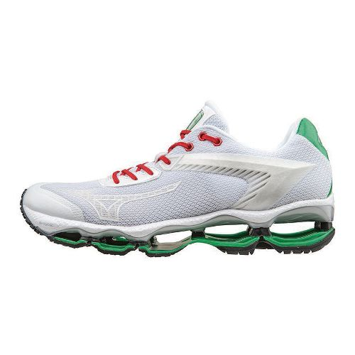 Mens Mizuno Wave Tenjin Running Shoe - White 10