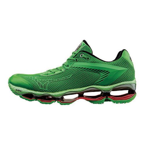 Mens Mizuno Wave Tenjin Running Shoe - Green 9.5