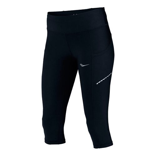 Womens Saucony Bullet Capri Tights - Black S