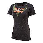Womens Saucony XC Wings Graphic Short Sleeve Technical Tops
