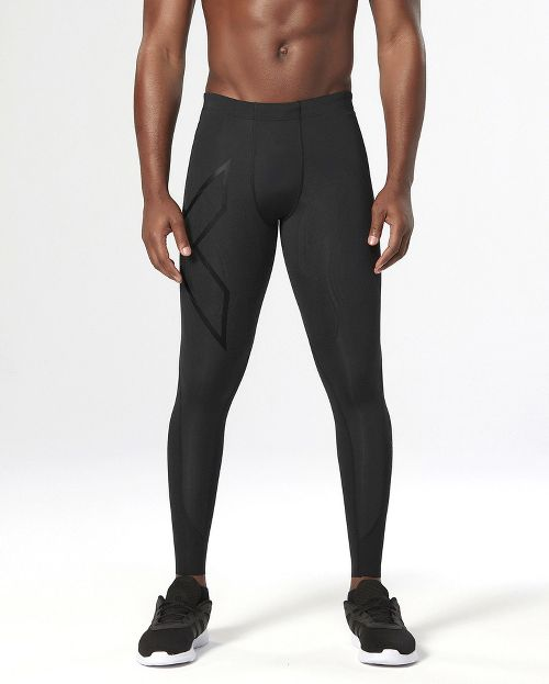 Mens 2XU Elite MCS Thermal Compression Full Length Tights - Black/Nero L
