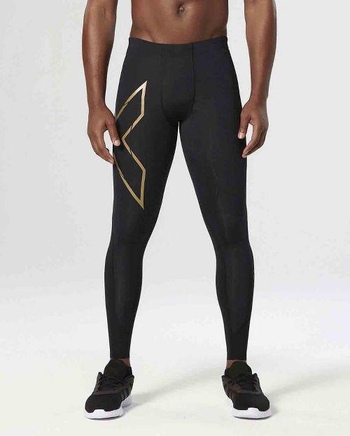 Mens 2XU Elite MCS Thermal Compression Full Length Tights - Black/Gold XL